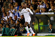 Leeds United forward Edward Nketiah (14), on loan from Arsenal, comes off the bench during the EFL Sky Bet Championship match between Leeds United and Brentford at Elland Road, Leeds, England on 21 August 2019.