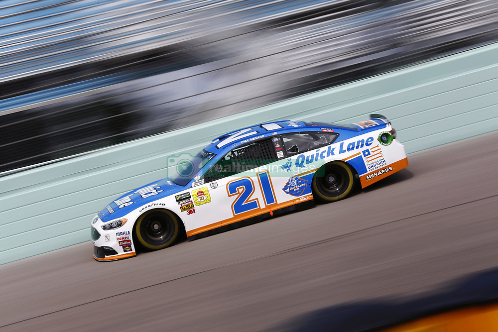 November 17, 2018 - Homestead, Florida, U.S. - Paul Menard (21) takes to the track to practice for the Ford 400 at Homestead-Miami Speedway in Homestead, Florida. (Credit Image: © Justin R. Noe Asp Inc/ASP)