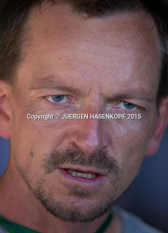 Dimitri Zavialoff, Coach von Timea Bacsinszky<br /> <br /> Tennis - Wimbledon 2015 - Grand Slam ITF / ATP / WTA -  AELTC - London -  - Great Britain  - 4 July 2015.
