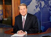 Jim Lehrer on the set of The Newshour