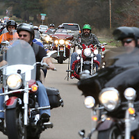 Libby Ezell | BUY AT PHOTOS.DJOURNAL.COM<br /> Many of the bikers decorated their bikes for they Toy Run
