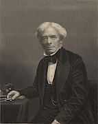 Michael Faraday (1791-1867) English chemist and physicist. In 1813 became laboratory assistant to Humphry Davy at the Royal Institution, London. In 1833 he succeeded Davy as professor of chemistry at the RI.  Engraving.