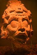 MEXICO, MAYAN, CHIAPAS Palenque; stucco portrait