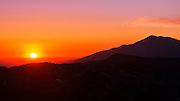 Sunset over the San Bernardino Mountains, San Bernardino National Forest, California USA