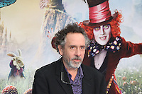 Tim Burton, Alice Through The Looking Glass - European film premiere, Leicester Square gardens, London UK, 10 May 2016, Photo by Richard Goldschmidt