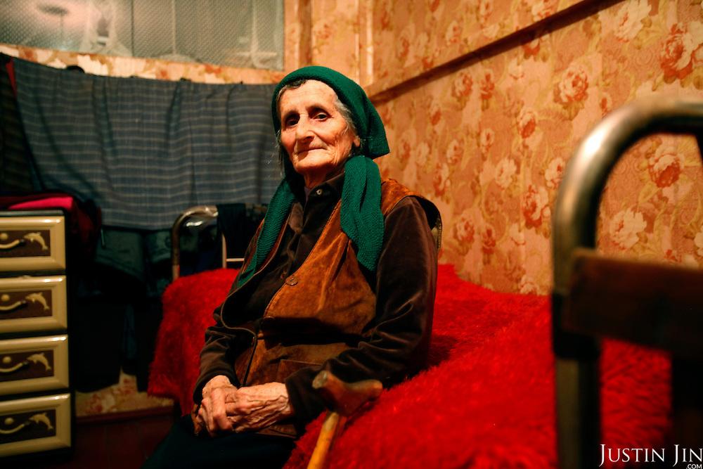 Portrait of an IDP in Zugdidi, Georgia.