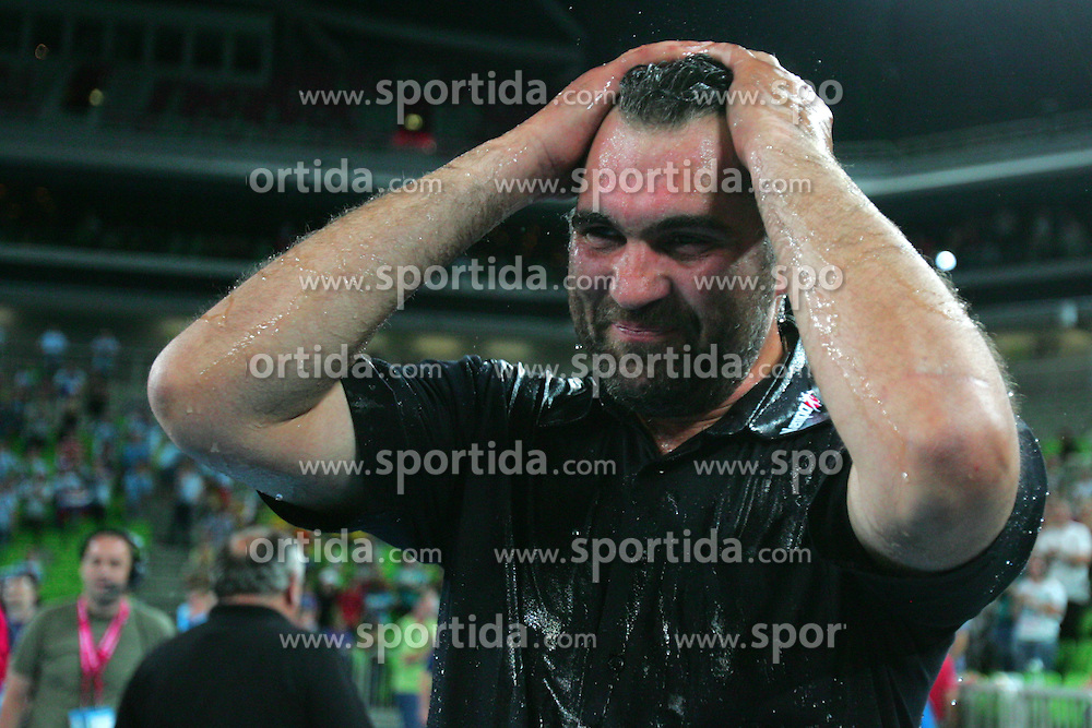 Coach of Slovenia, Boris Denic during handball match between National teams of Slovenia and Ukraine of 2012 EHF Men's European Championship Play-off, on June 12, 2011 in Arena Stozice, Ljubljana, Slovenia. (Photo By Urban Urbanc / Sportida.com)