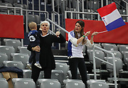 Family Karabatic during the EHF 2018 Men's European Championship, 2nd Round, Handball match between Serbia and France on January 22, 2018 at the Arena in Zagreb, Croatia - Photo Laurent Lairys / ProSportsImages / DPPI