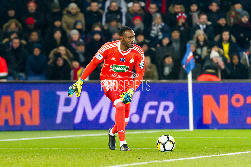 Steve Mandada (om) during the French Cup football match between Paris Saint-Germain and Marseille on February 28, 2018 at Parc des Princes Stadium in Paris, France - Photo Pierre Charlier / ProSportsImages / DPPI