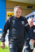Gillingham FC manager Steve Lovell during the EFL Sky Bet League 1 match between Gillingham and Coventry City at the MEMS Priestfield Stadium, Gillingham, England on 25 August 2018.