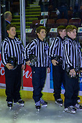 KELOWNA, CANADA - FEBRUARY 02: Junior Referees at the Kelowna Rockets game on February 02, 2019 at Prospera Place in Kelowna, British Columbia, Canada. (Photo By Cindy Rogers/Nyasa Photography, *** Local Caption ***
