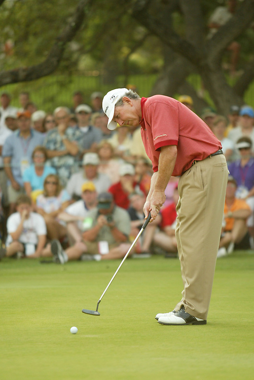 Hale Irwin..2003 Kinko's Classic of Austin..The Hills Country Club, Lakeway, TX..Final Round..Sunday, May 11 2003..Photograph by Darren Carroll