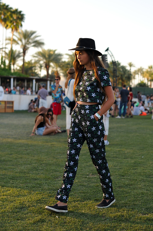 Two-Piece Floral Outfit, Coachella 2015