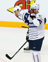Deceptions Antoine Roussel / Anthony Rech - 07.05.2015 - Republique Tcheque / France - Championnat du Monde de Hockey sur Glace <br />Photo : Xavier Laine / Icon Sport