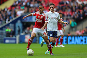 Swindon Town's Louis Thompson during the Sky Bet League 1 Play Off Final match between Preston North End and Swindon Town at Wembley Stadium, London, England on 24 May 2015. Photo by Shane Healey.