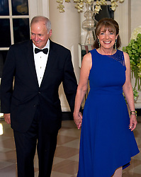 United States Representative Susan Davis (Democrat of California) and Steven J. Davis arrives for the State Dinner in honor of Prime Minister Trudeau and Mrs. Sophie Grégoire Trudeau of Canada at the White House in Washington, DC on Thursday, March 10, 2016. EXPA Pictures © 2016, PhotoCredit: EXPA/ Photoshot/ Ron Sachs<br /> <br /> *****ATTENTION - for AUT, SLO, CRO, SRB, BIH, MAZ, SUI only*****