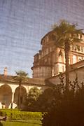 Cloister close to visitors at the Abbey of Santa Maria delle Grazie in Milan, April 6, 2017. &copy; Carlo Cerchioli<br /> <br /> Il chiostro chiuso al pubblico dell'abbazia di Santa Maria delle Grazie a Milano, 6 aprile 2017.
