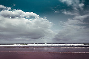 Brandung des Atlantik bei Mimizan-Plage, Frankreich