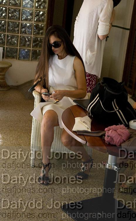 ARUSKKA BERGMAN, The Moncler Duck toy interpreted by artist Stuart Semple. Presented by Fraca Sozzani. Raleigh Hotel Miami Beach. 5 December 2008 *** Local Caption *** -DO NOT ARCHIVE-© Copyright Photograph by Dafydd Jones. 248 Clapham Rd. London SW9 0PZ. Tel 0207 820 0771. www.dafjones.com.