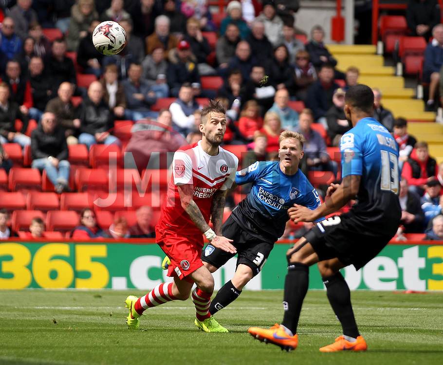 Bournemouth's Matt Ritchie shoots - Photo mandatory by-line: Robbie Stephenson/JMP - Mobile: 07966 386802 - 02/05/2015 - SPORT - Football - Charlton - The Valley - Charlton v AFC Bournemouth - Sky Bet Championsip