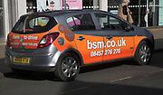 BSM, British School of Motoring, car