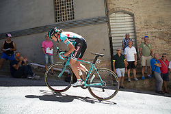 Simona Bortolotti (ITA) of Giusfredi Bianchi Cycling Team rides near the top of the final climb of Stage 5 of the Giro Rosa - a 12.7 km individual time trial, starting and finishing in Sant'Elpido A Mare on July 4, 2017, in Fermo, Italy. (Photo by Balint Hamvas/Velofocus.com)