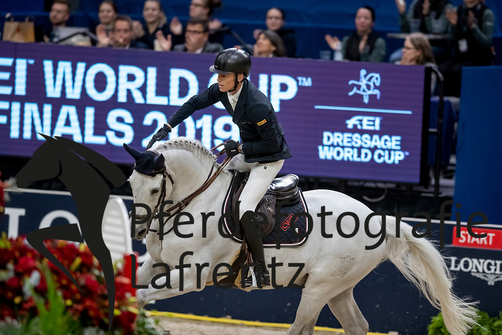 KÜHNER Max (AUT), Chardonnay 79<br /> Göteborg - Gothenburg Horse Show 2019 <br /> Longines FEI World Cup™ Final II<br /> Int. jumping competition with jump-off (1.50 - 1.60 m)<br /> Longines FEI Jumping World Cup™ Final and FEI Dressage World Cup™ Final<br /> 05. April 2019<br /> © www.sportfotos-lafrentz.de/Stefan Lafrentz