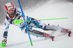 """Marco Schwarz (AUT) during FIS Alpine Ski World Cup 2016/17 Men's Slalom race named """"Snow Queen Trophy 2017"""", on January 5, 2017 in Course Crveni Spust at Sljeme hill, Zagreb, Croatia. Photo by Ziga Zupan / Sportida"""