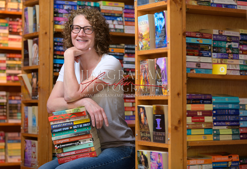 Rebecca Dowling, the owner of the Hockessin Book Shelf in Hockessin, De., on 15 September 2017.Photograph by Jim Graham