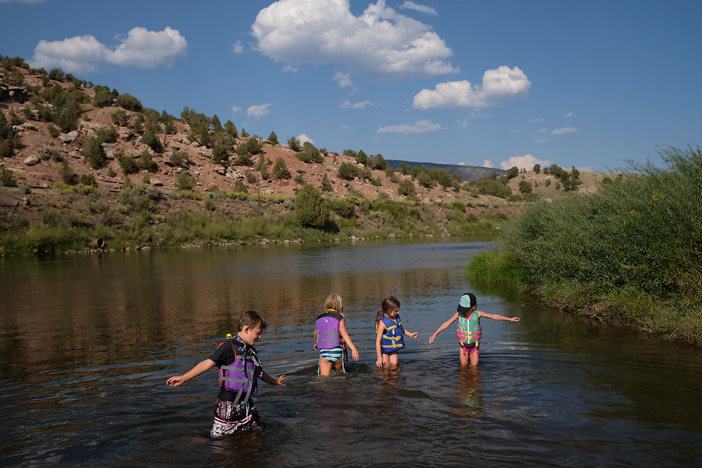 2017 SEP 06: Members of the West Denver Chapter of Trout Unlimited survey the work they've helped to facilitate on the Clear Creek in Jefferson County, Colorado.
