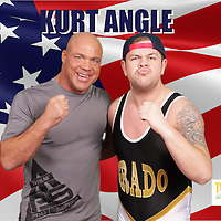 kurt angle, tna wrestling, wwe, pics:chris sargeant,tip top pics ltd, triple m promotions