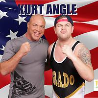 kurt angle, tna wrestling, wwe, pics:chris sargeant,tip top pics ltd, triple m promotions