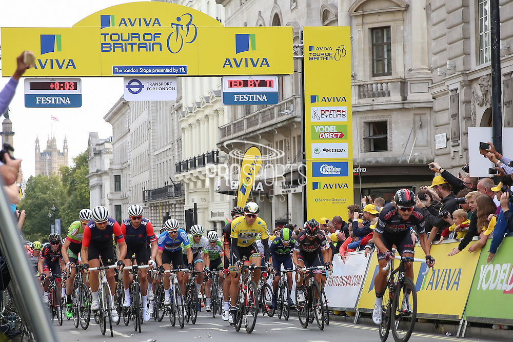 The start of the Aviva Tour of Britain London Stage eight, Regent Street, London, United Kingdom on 13 September 2015. Photo by Phil Duncan.