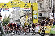The start of the Aviva Tour of Britain London Stage eight, Regent Street, London, United Kingdom on 13 September 2015. Photo by Phil Duncan.