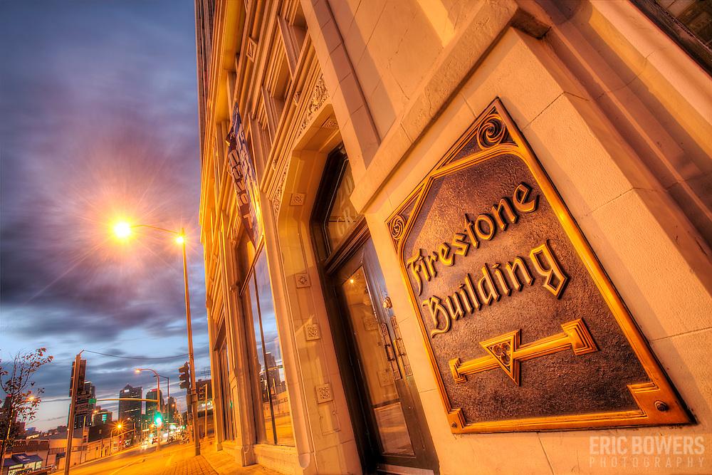 Firestone Building at 20th and Grand Avenue, Kansas City, Missouri.