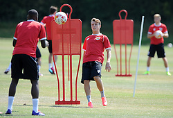 - Photo mandatory by-line: Dan Rowley/JMP - Tel: Mobile: 07966 386802 24/07/2013 - SPORT - FOOTBALL - Bristol -  Bristol City V Reading<br /> New signing Luke Freeman during Bristol City's first pre-season training session.