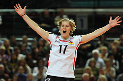 10.10.2010, Bremen Arena, Bremen, GER, Vorbereitung Volleyball WM Frauen 2010, Laenderspiel Deutschland ( GER ) vs. Tuerkei ( TUR ), im Bild Lisa Thomsen (#17 GER). EXPA Pictures © 2010, PhotoCredit: EXPA/ nph/   Conny Kurth+++++ ATTENTION - OUT OF GER +++++