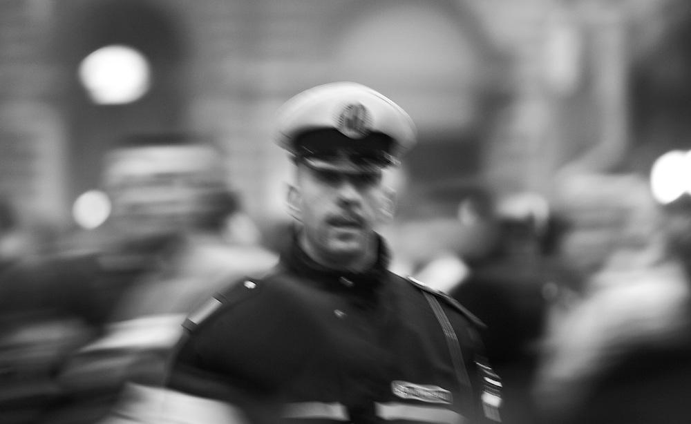 Italian cop in central Bologna.
