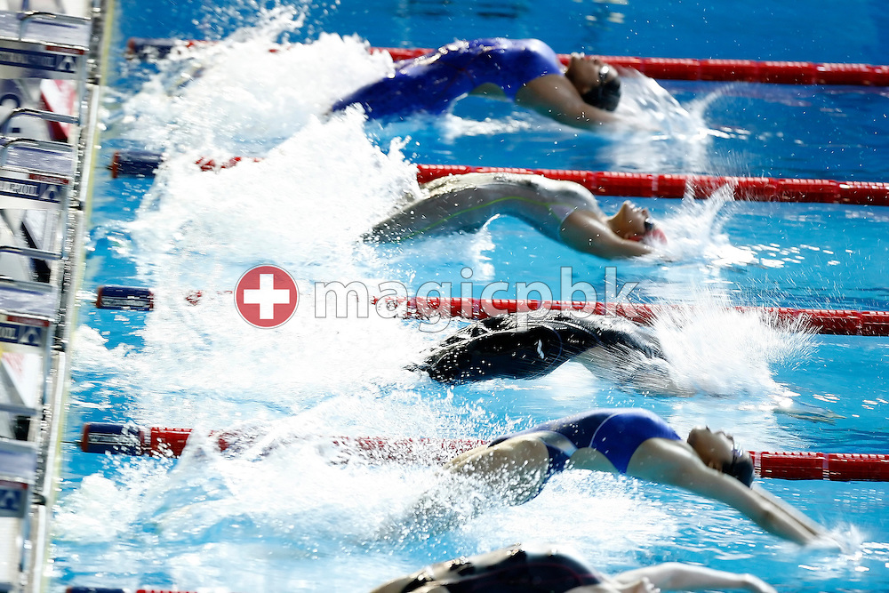 Start of the 5th heat in the women's 50m backstroke heats in the Susie O'Neill pool at the FINA Swimming World Championships in Melbourne, Australia, Wednesday 28 March 2007. (Photo by Patrick B. Kraemer / MAGICPBK)