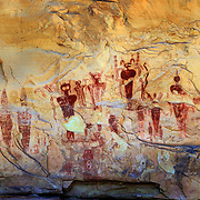 A panel of Ancient Civilization rock art in Sego Canyon near Moab, Utah.