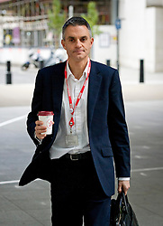 © London News Pictures. 12/11/2012. London, UK. Tim Davie, The new acting Director General of the BBC, arriving at BBC Broadcasting House in London on November 12, 2012. Photo credit: Ben Cawthra/LNP
