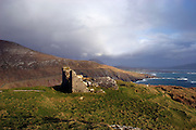Ruined watchtower Keem Bay, Achill Island