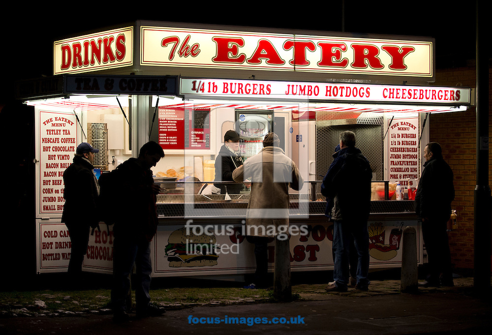 A takeaway van before during the FA Cup match at Turf Moor, Burnley<br /> Picture by Russell Hart/Focus Images Ltd 07791 688 420<br /> 05/01/2015