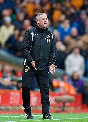 LIVERPOOL, ENGLAND - Saturday, January 28, 2017: Wolverhampton Wanderers' manager Paul Lambert during the FA Cup 4th Round match at Anfield. (Pic by David Rawcliffe/Propaganda)