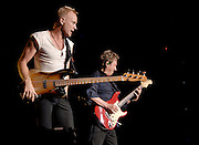 Sting and Andy Summers of The Police perform at Madison Square Garden on Wednesday, August 1, 2007 in New York.