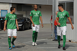 16.07.2011, Trainingsgelaende Werder Bremen, Bremen, GER, 1.FBL, Training Werder Bremen, im Bild Philipp Bargfrede (Bremen #44), Naldo (Bremen #4), Sandro Wagner (Bremen #19)   // during training session from Werder Bremen 2011/07/16    EXPA Pictures © 2011, PhotoCredit: EXPA/ nph/  Frisch       ****** out of GER / CRO  / BEL ******