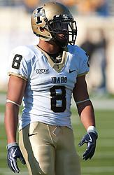 October 10, 2009; San Jose, CA, USA;  Idaho Vandals running back Kama Bailey (8) before the game against the San Jose State Spartans at Spartan Stadium.  Idaho won 29-25.