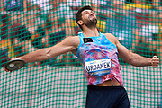 Poland, Warsaw - 2017 August 15: Robert Urbanek (Aleksandrow Lodzki) of Poland competes in men&rsquo;s discus throw during Memorial of Kamila Skolimowska at Stadion PGE Narodowy on August 15, 2017 in Warsaw, Poland.<br /> <br /> Mandatory credit:<br /> Photo by &copy; Adam Nurkiewicz<br /> <br /> Adam Nurkiewicz declares that he has no rights to the image of people at the photographs of his authorship.<br /> <br /> Picture also available in RAW (NEF) or TIFF format on special request.<br /> <br /> Any editorial, commercial or promotional use requires written permission from the author of image.