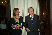 The Italian Ambassador and Signora Aragona, Launch of  ñMy Beautiful Gameî by Nancy DellÍOlio<br />