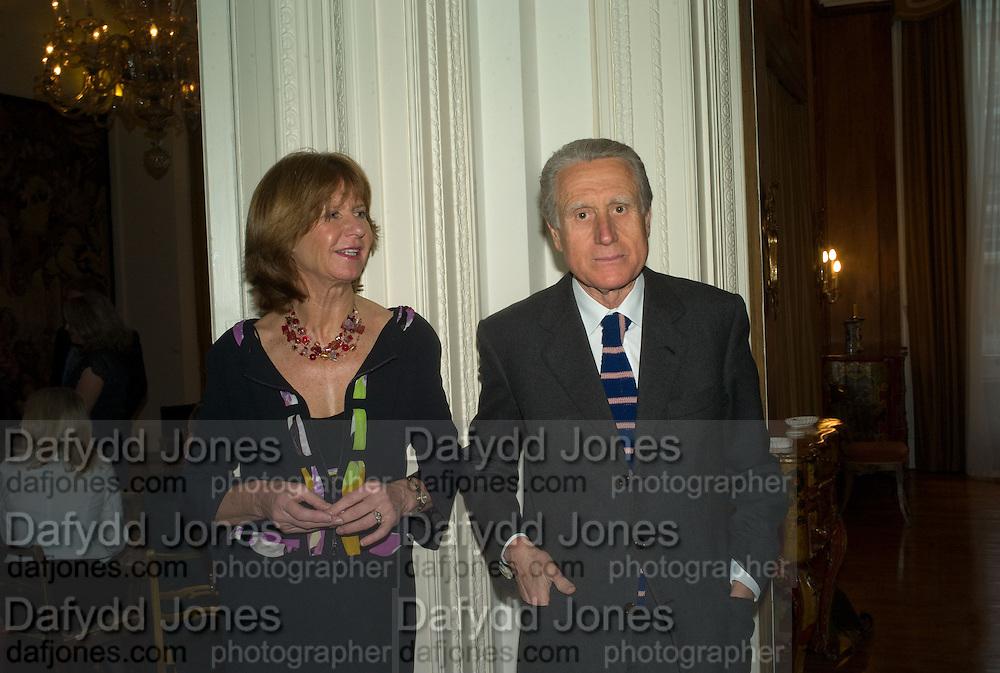 The Italian Ambassador and Signora Aragona, Launch of  ñMy Beautiful Gameî by Nancy DellÍOlio<br />hosted by The Italian Ambassador and Signora Aragona  Thursday, 17 April 2008. at 4 Grosvenor Square, London W1. 17 April 2008. <br /> *** Local Caption *** -DO NOT ARCHIVE-© Copyright Photograph by Dafydd Jones. 248 Clapham Rd. London SW9 0PZ. Tel 0207 820 0771. www.dafjones.com.